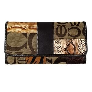 Mixed Print Patchwork Wallet
